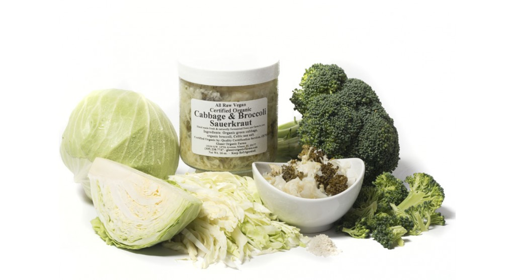 Cabbage and Broccoli Sauerkraut, 16 oz.