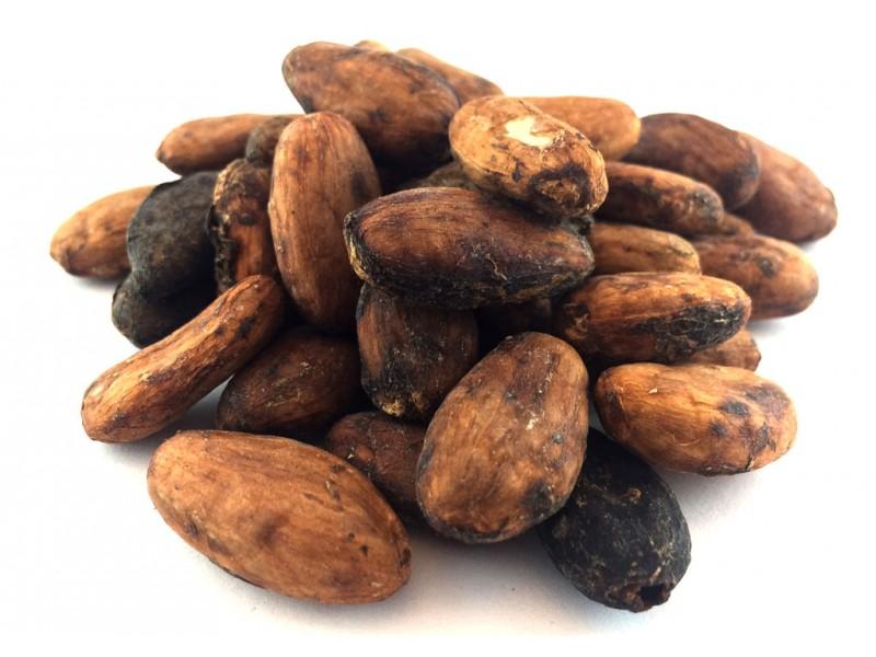 Cacao Beans with Skin, 4 oz.