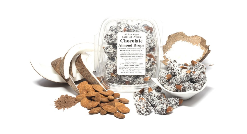 Chocolate Sprouted Almond Drops, 5 oz.