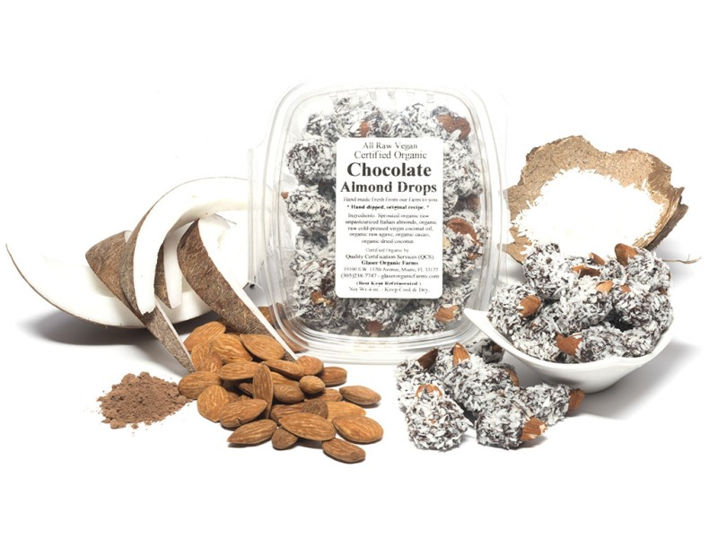 Chocolate Sprouted Almond Drops, 4 oz.