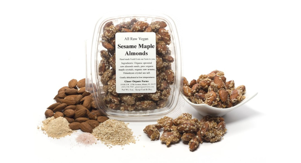 Sesame Maple Almonds, 5 oz.