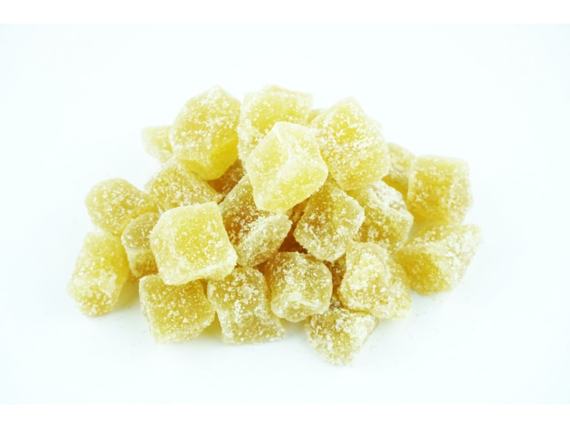 Ginger, Crystallized Squares, 8 oz.