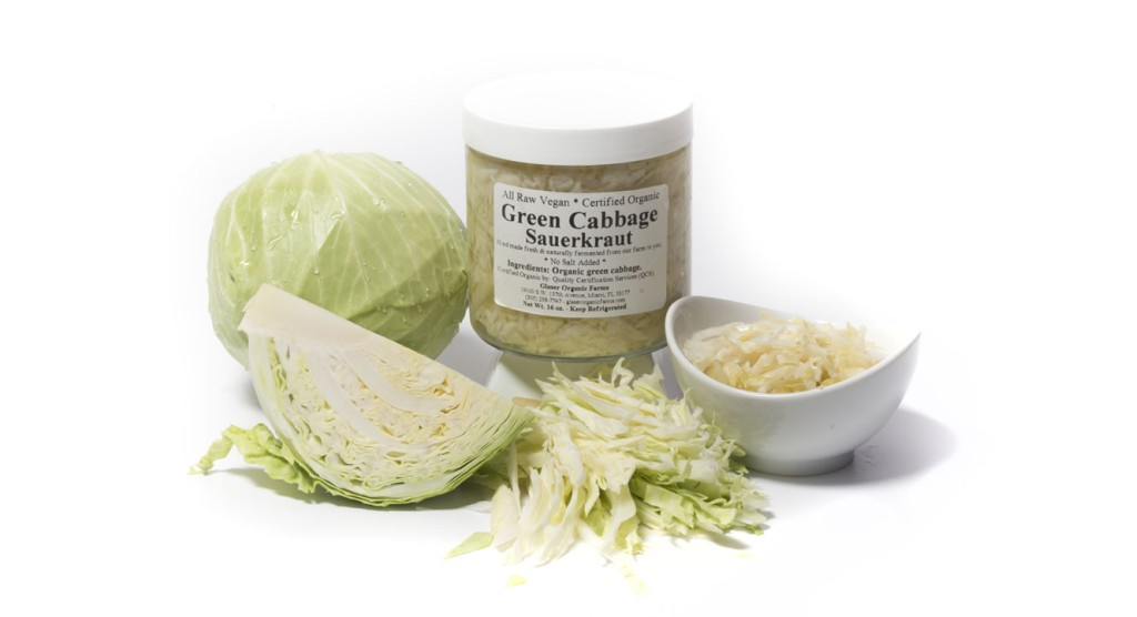 Green Cabbage (no salt) Sauerkraut, 16 oz.