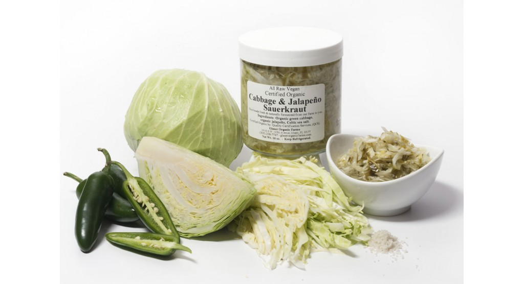 Cabbage and Jalapeno Sauerkraut, 16 oz.