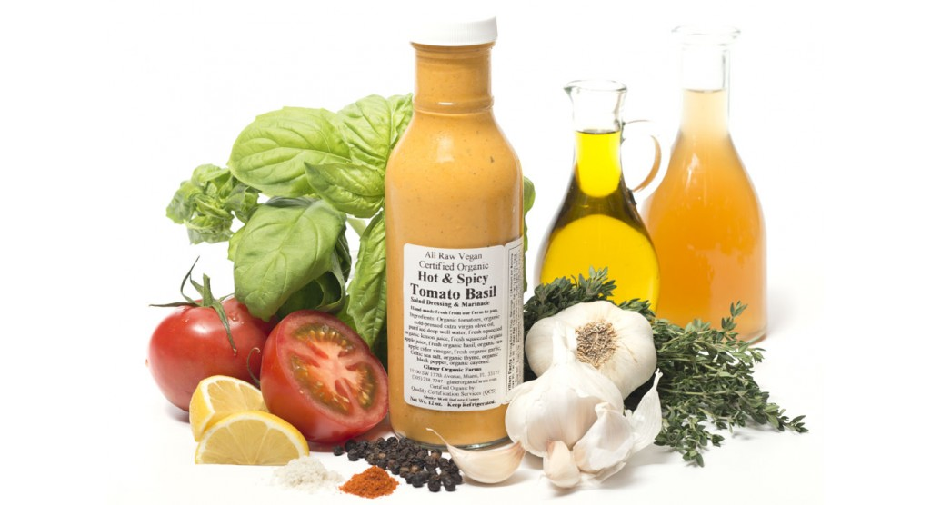 Tomato Basil, Hot and Spicy Dressing, 12 oz.