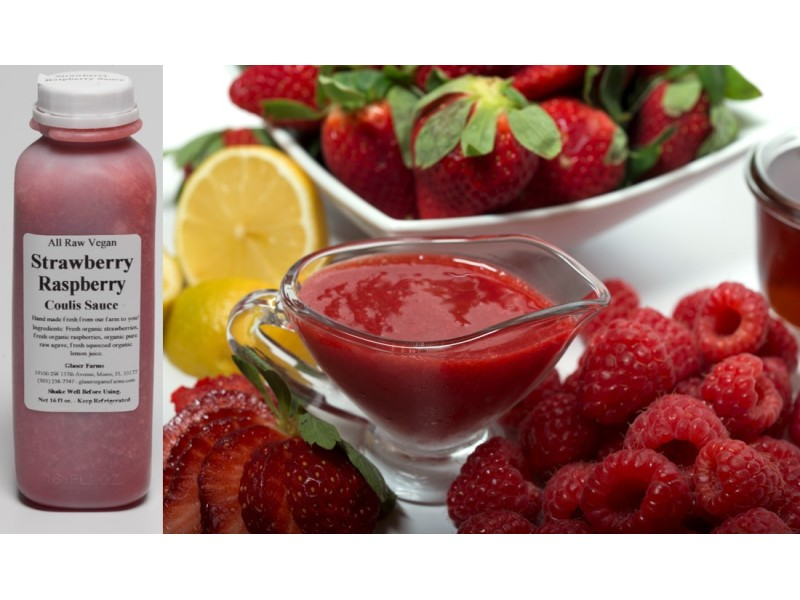 Strawberry Raspberry Coulis Sauce 16 oz