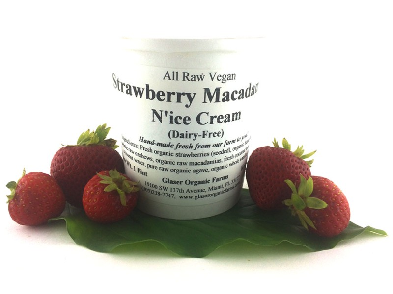 Strawberry Macadamia N'Ice Cream, 16 oz.