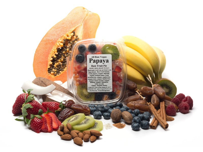 Papaya Raw Fruit Pie, 8 oz.
