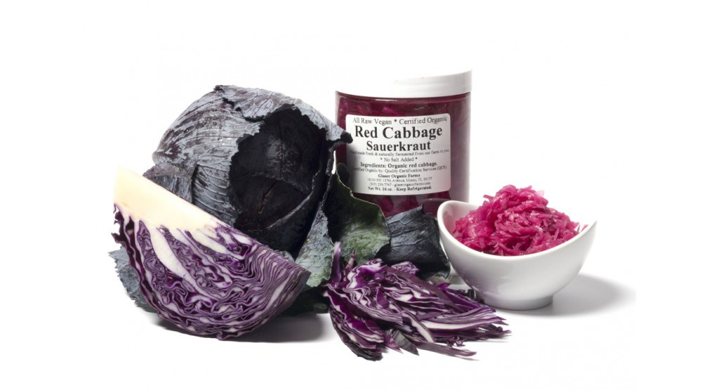 Red Cabbage (no salt) Sauerkraut, 16 oz.