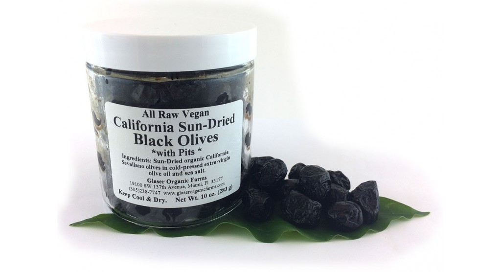 Olives, California, Sun-dried, WITH PITS, Certified Organic, 10 oz.