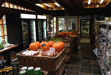 our raw vegan local store shelves, isles, <br>and refrigerators and displays